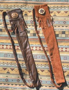 Trail leather flute bags.