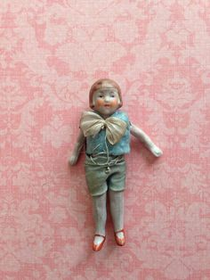 Tiny Antique Vintage Bisque Dollhouse Doll Flapper   on Etsy, $59.00