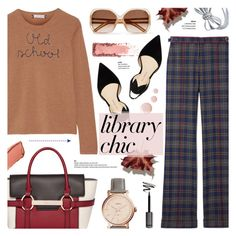 """""""Study Session: Library Chic"""" by anyasdesigns ❤ liked on Polyvore featuring Lingua Franca, Gabriela Hearst, Chloé, Paul Andrew, FOSSIL, Topshop, BERRICLE, Hourglass Cosmetics and Fiorelli"""