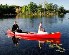must have shot! KAREN- BRING YOUR CANOE! #muskoka #wedding Muskoka Wedding www.JenShootsWeddings.com