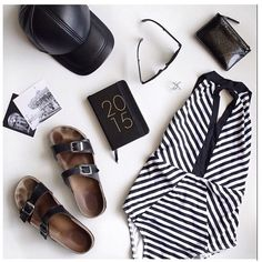 @escapebuttonblog highlights the modern essentials featuring #JETSswimwear Precision stripes in monochrome shades