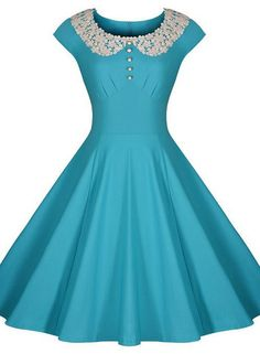 mint vintage dress Love this style