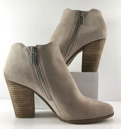 Micheal Kors Cement Suede Adams Ankle Bootie Womens Size US 7.5M | eBay