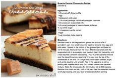 Brownie Caramel Cheesecake from SixSistersStuff.com