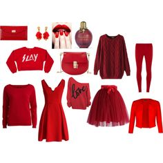 """Red"" by msara23 on Polyvore"