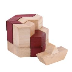 >> Click to Buy << Hexahedron Prism Kongming Luban Lock Wooden Tangram Block Educational Toys Wooden Educational Game Toy #Affiliate