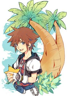 Sora's my favorite character from Kingdom Hearts and I collect and draw images featuring him and his friends. Kingdom Hearts Characters, Kingdom Hearts Fanart, Kingdom Hearts Wallpaper, Me Anime, Anime Manga, Anime Art, Kawaii Anime, Kindom Hearts, Art Manga