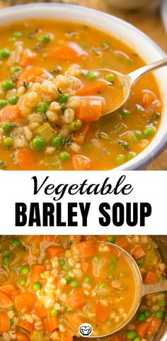 Let The Homey Flavors Speak For Themselves With This Hearty And Simply Delicious Vegetable Barley Soup. Its Easy To Make, Incredibly Healthy, Packed With Vegetables, Filling, And You Cant Stop Eating It Vegetable Barley Soup, Vegetable Soup Recipes, Easy Soup Recipes, Healthy Dinner Recipes, Vegetarian Recipes, Cooking Recipes, Vegetarian Barley Soup, Chicken Barley Soup, Barley Recipes