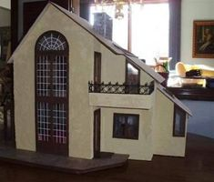 Great Dollhouse ideas at the Greenleaf Gazette, the Newsletter of serous dollhouse enthusiast and miniaturist from around the world! Miniature Dollhouse Furniture, Miniature Houses, Miniature Dolls, Dollhouse Miniatures, Victorian Dollhouse, Modern Dollhouse, Dollhouse Ideas, Barbie House, Interior Decorating
