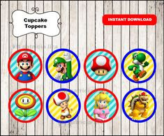 Hey, I found this really awesome Etsy listing at https://www.etsy.com/listing/477823771/super-mario-bros-toppers-instant