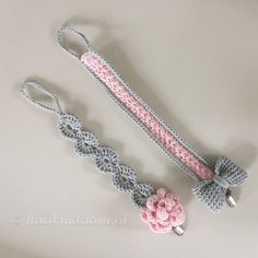 Crochet Pacifier Clip, Crochet Baby Toys, Newborn Crochet, Crochet Bunny, Crochet Gifts, Cute Crochet, Crochet For Kids, Baby Knitting, Crochet Dog Clothes