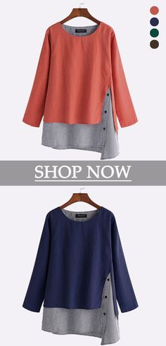 c784e3e6bf3 Stripe Patchwork Asymmetrical Long Sleeve Casual T-shirts look chipper and  natural. NewChic has a lot of women T-shirts online for your choice