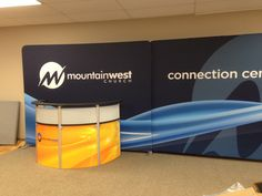 Mountain West connecting 2- flat frames to carry the graphic across each image.