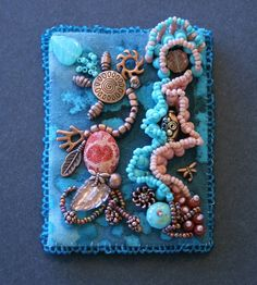 Bead Embroidery ATC! Katherine Brazzeal