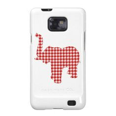 Red Houndstooth Elephant Galaxy SII Cover