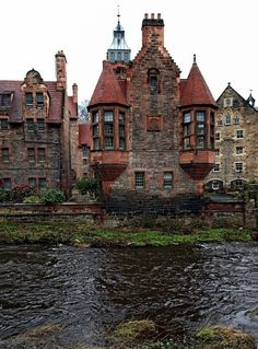 Medieval Edinburgh in Scotland.