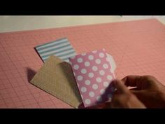 Mini File Folder Envelope Punch Board *TUTORIAL* - YouTube