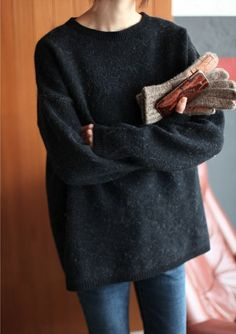 Oversize Sweater and Jeans