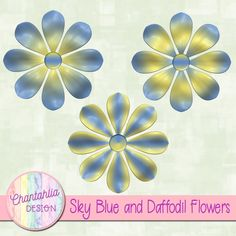 Free digital flowers in sky blue and daffodil. Use them in your digital scrapbooking or other digital crafts. Blue Crafts, Arts And Crafts, Paper Crafts, Diy Crafts, Digital Scrapbooking Freebies, Digital Papers, Free Vector Graphics, Daffodil, Diy Scrapbook