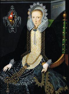 Salomon Mesdach (ca. 1600-na 1632) —  Portrait d'Adriana van Nesse: Musée des Beaux-Arts de Valenciennes,  France (441×600)
