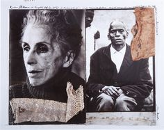 Karen Blixen and Kamante Gatura diptych from The End of the Game by Peter Beard