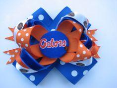 Girls Florida Gators Hair Bow by lilsydneybug on Etsy, $6.00