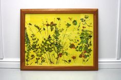 Meadow  screen printed and painted art work with by XOproject