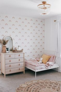 When eclectic, boho style meets clean, craftsman. Loving how our DIY toddler bedroom turned out. See before and after photos on Toddler Room Decor, Toddler Rooms, Baby Room Decor, Girl Toddler Bedroom, Kids Rooms, Kids Bedroom Ideas For Girls Toddler, Ikea Girls Bedroom, Nursery Decor, Room Boys