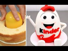 Huge Kinder Surprise Cake with SURPRISE TOY Inside How To Make by Cakes ...