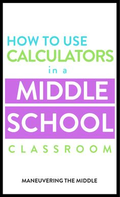 Calculators are useful tools in life & the classroom. Teachers need to teach students how to them because calculators are only as accurate as the operator. Middle School Classroom, Math Classroom, Classroom Ideas, Math Games, Math Math, Math Fractions, Multiplication, Maths, Math Websites