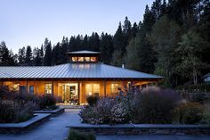Contemporary Landscape/Yard - I'd love to see the inside - love the porch surround, the metal roof, the cupola (hopefully the windows open for cooling), and the modest scale of it all!