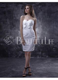$169.49Fabulous Satin #Sweetheart #Mini #Wedding Dress With Embroidery Mini Wedding Dresses, Tea Length, Wedding Planning, Dream Wedding, Strapless Dress, Satin, Bride, Formal Dresses, Sexy