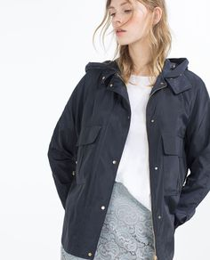 WATER REPELLENT JACKET-View All-OUTERWEAR-WOMAN   ZARA United States