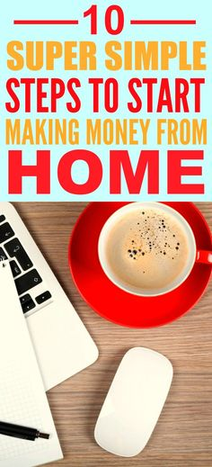 These super simple steps to start making money from home are THE BEST! I'm so happy I found these AMAZING tips! Now I have some real ideas on how I can quit my job! Definitely pinning for later!