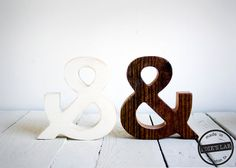 Ampersand Wood Symbol For Your Desktop Painted White or Reclaimed Wood ($35.00) - Svpply