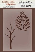 Stamper's Anonymous/Studio 490 - Stencils For Art by Wendy Vecchi  - Layered Tree
