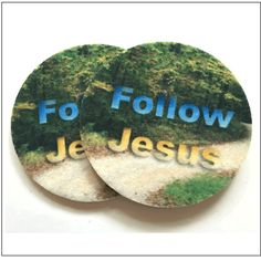 Follow Jesus Car Coasters