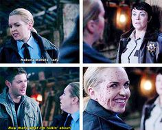 10x08 Hibbings 911 #SPN. I truly believe that there should be an episode of just Jody and Donna hunting vamps.