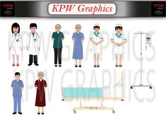 Hospital Staff and Accessories Pack 2 including 8 by KPWgraphics