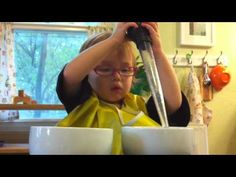 Montessori water transfer with baster - YouTube