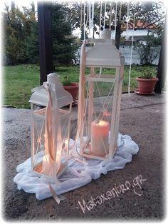 Στολισμός γάμου Lanterns, Diana, Glass Vase, Dream Wedding, Wedding Decorations, Scale, Weddings, Etsy, Home Decor