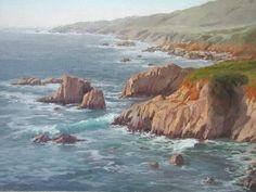 Garrapata Shore by Kathleen Dunphy Oil ~  x