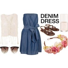 Stylish Denim Dresses by timeandcouture on Polyvore