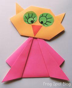 owl Paper Folding Craft