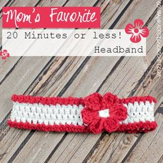 Mom's Favourite 20 Minute Or Less Headband By Rhondda - Free Crochet Pattern - Adult And Child Sizes - (oombawkadesigncrochet) Bandeau Crochet, Crochet Headband Pattern, Crochet Patterns, Crochet Headbands, Baby Headbands, Knit Headband, Crochet Ideas, Crochet For Kids, Free Crochet