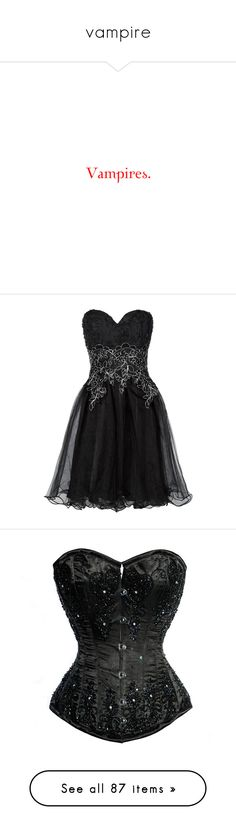 """""""vampire"""" by lovelife-208 ❤ liked on Polyvore featuring quotes, twilight, words, text, vampire, phrase, saying, dresses, vestidos and short dresses"""