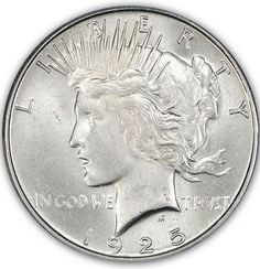 Blast White Peace Dollar in a PC holder. Peace Dollar, Rare Coins, Half Dollar, Silver Bars, Coin Collecting, Larry, Auction