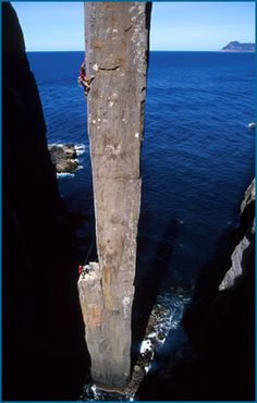 Rock climbing and sport climbing in Tasmania