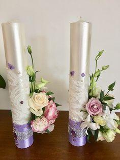 Lumanari nunta ortodoxa Candels, Pillar Candles, Handmade Candles, Wedding Ideas, Taper Candles, Candles