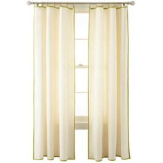 MarthaWindow™ Caldwell Border Ring-Top Curtain Panel - JCPenney